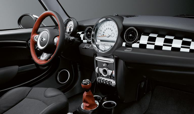 MINI Find an Accessory, Interior Chequered flag design